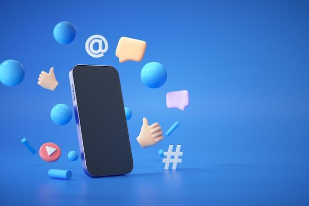 Платформа социальных сетей 3d trend, концепция приложений для социальных сетей