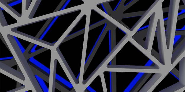 3d triangle abstrack design with dark blue color hight quality image rendered