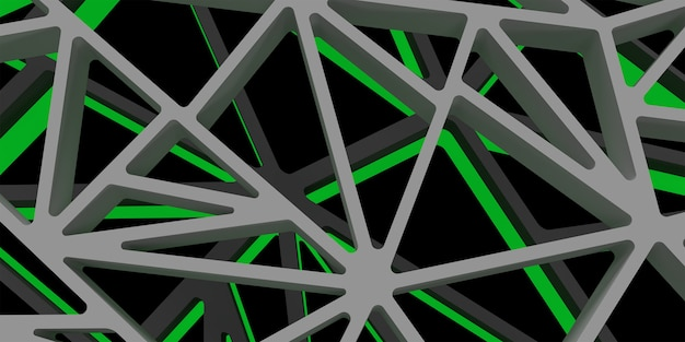 3d triangle abstrack design with dark green color hight quality image rendered