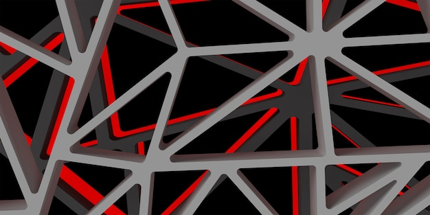3d triangle abstrack design with dark red color hight quality image rendered