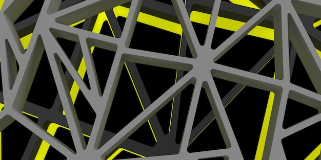 3d triangle abstrack design with dark yellow color hight quality image rendered