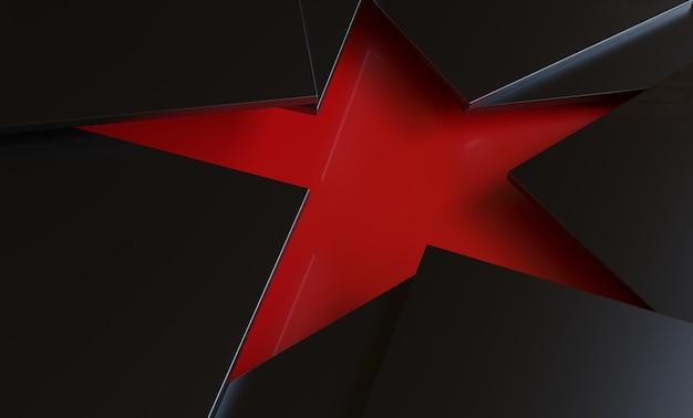3 dの三角形は星の形の背景を作る