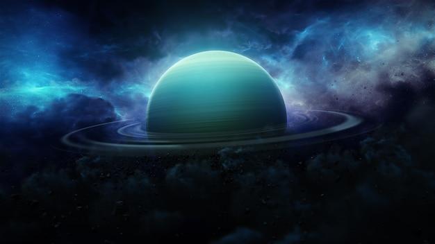 3d uranus in space