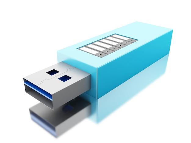 3d usb-накопитель с папками данных