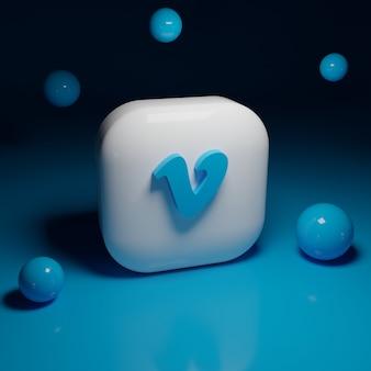 Приложение с 3d логотипом vimeo
