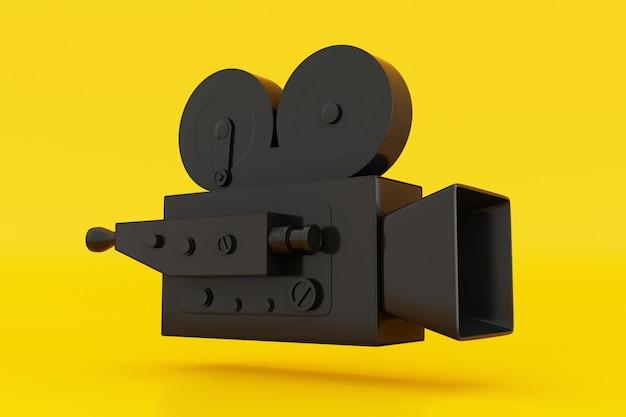3d vintage movie camera.
