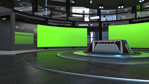 3d виртуальная телестудия новостной фон для телешоу тв на стене3d виртуальная новостная студия фон