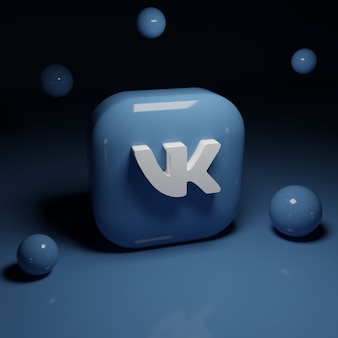 3d vk logo application