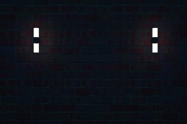暗い壁に照らされた3dウォールランプランプ断熱壁のモダンなウォールランプ