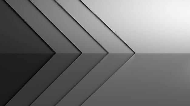 3d wallpaper background tone black and white pointed to the right direction  3d scene
