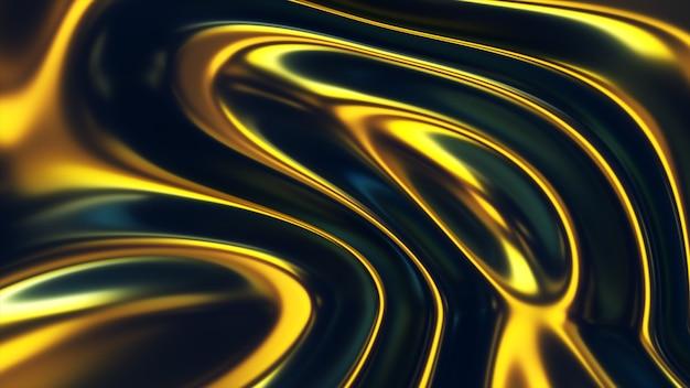 3d волнистые флуоресцентные поверхности абстрактный размахивая фон с эффектом тонкой пленки.