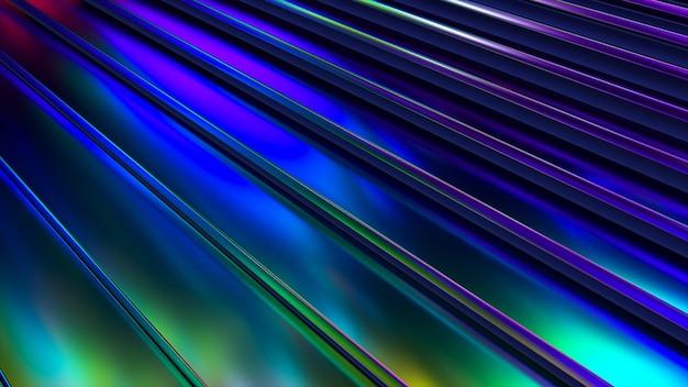 3d波状表面。ネオンの波紋と抽象的な手を振る背景。