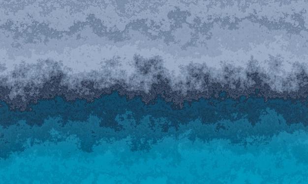 3d 풍 화 회색과 파란색 시멘트 벽 텍스처