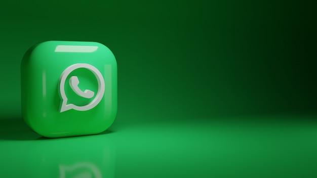 3d логотип приложения whatsapp