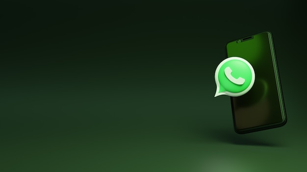 3d whatsapp with the smart mobile phone amazing social media ads