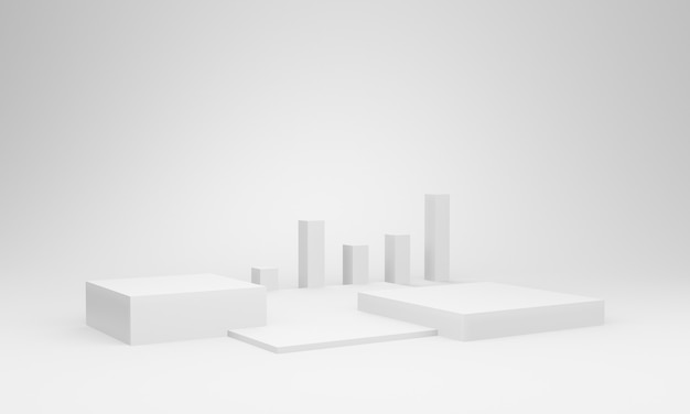 3d-макет сцены белого ящика