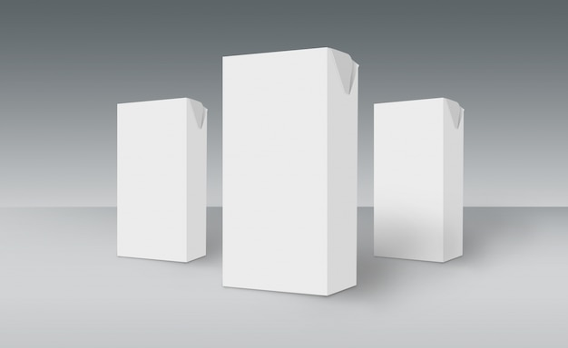 3d белые коробки на наземной концепции серии 511