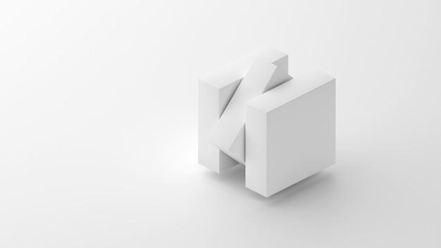 3d белый фон компонентов