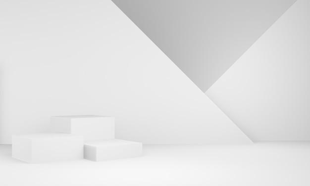 3d белый геометрический подиум