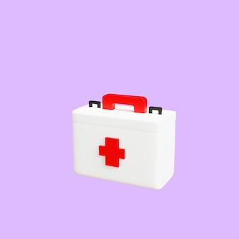 3d白い医療キットオブジェクトレンダリングされた孤立したイラスト