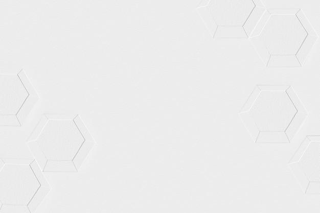 3dホワイトペーパークラフト六角形のパターン化された背景
