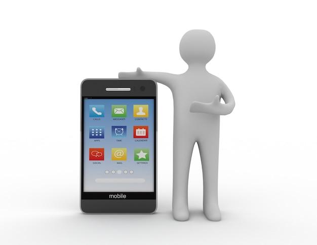 スマートフォンで3d白人