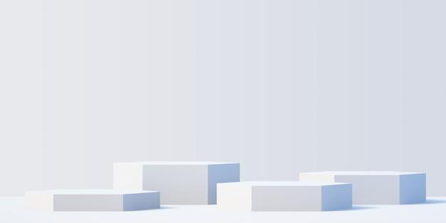 3d белый продукт подиум макет фона для презентации с белым фоном, 3d-рендеринг