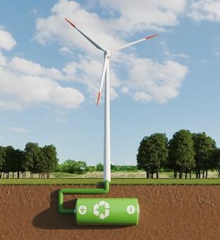 エネルギーを節約するための3d風車プロジェクト