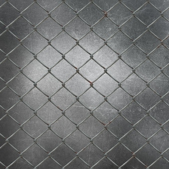 3d wire mesh on grunge metal background