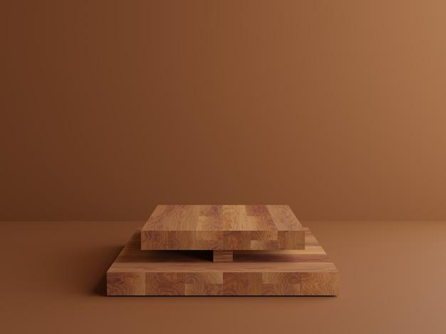 3d деревянный мраморный подиум геометрический коричневый фон