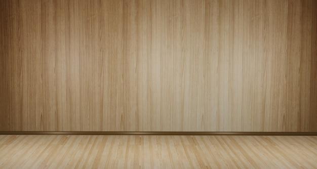 3dの木製の床とセメントの背景、デザインされた照明が部屋全体に広がっています。