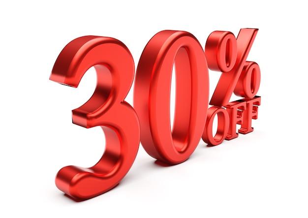 Премиум Фото | Скидка 30% на белом фоне, специальное предложение, отличное  предложение, распродажа. скидка 30%
