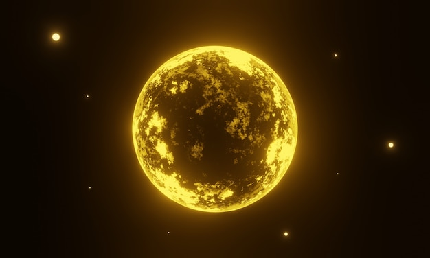 3d желтая чужая планета