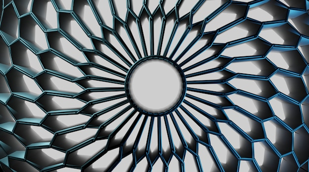 3dの抽象的な円形ジオメトリの背景