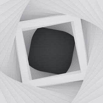 3d геометрическая квадратная рамка абстрактный