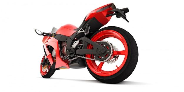 3d красный супер спортивный мотоцикл