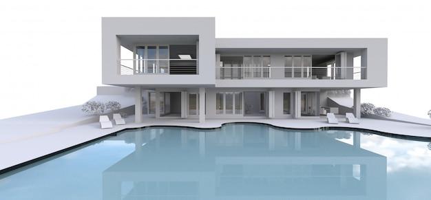 3d современный дом