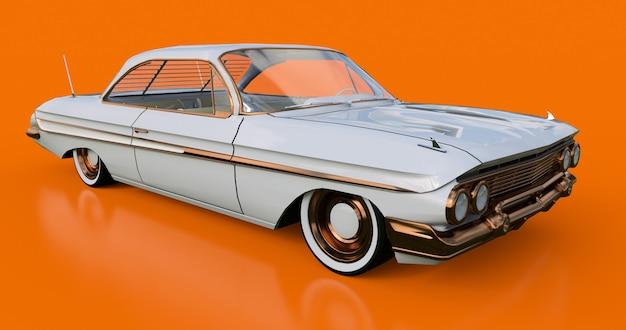 Установлен старый американский автомобиль в отличном состоянии. 3d-рендеринг.