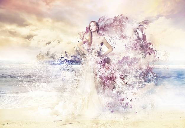 美しいドレスが女性に与える3d効果