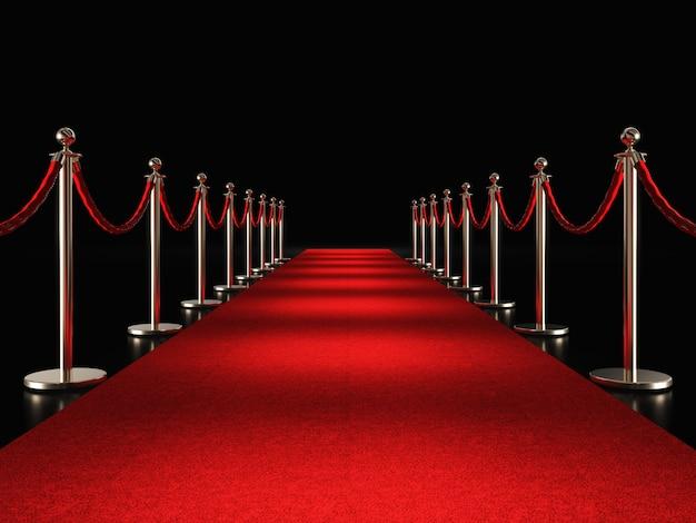 Красная ковровая дорожка 3d