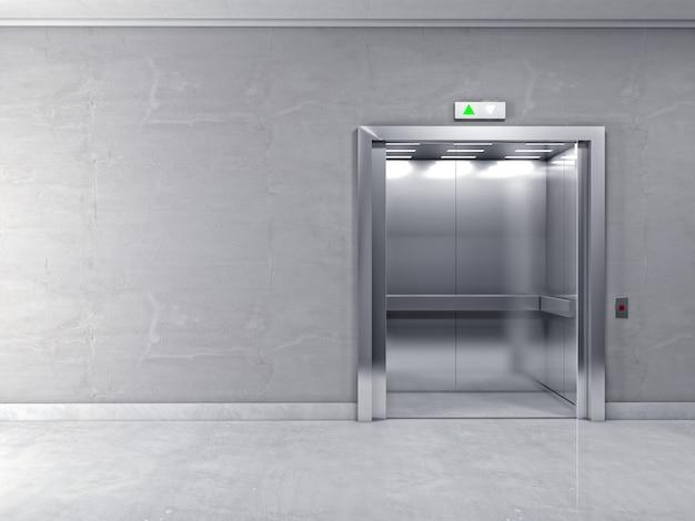 3d современный лифт
