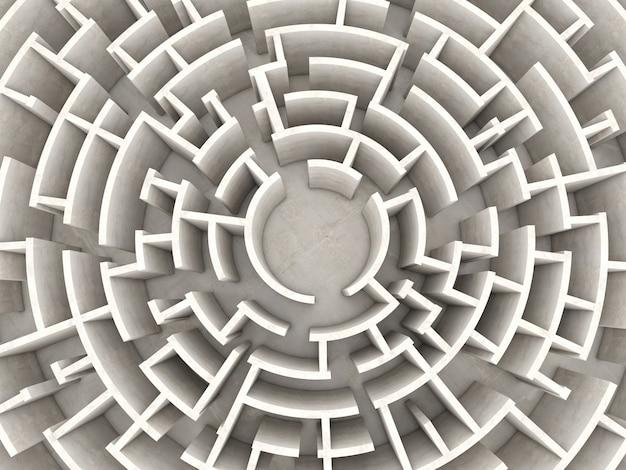 Круговой лабиринт 3d
