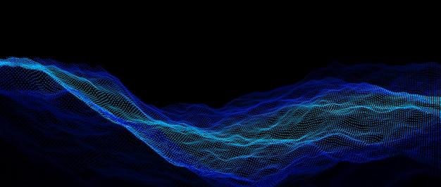 3d изображение визуализации пунктирной волны