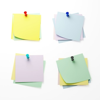 Комплект бумаги напоминания 3d