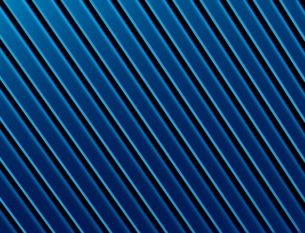 抽象的な青い金属の背景。 3dイラストレーション。
