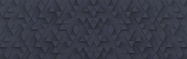 灰色の三角形の背景。 3dレンダリング。