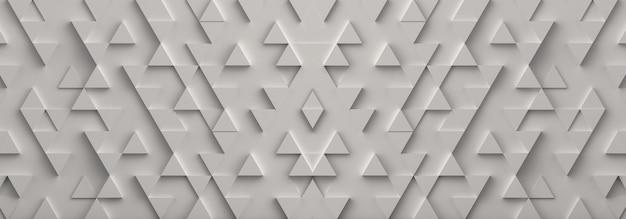 白い三角形のバナーの背景。 3dレンダリング。