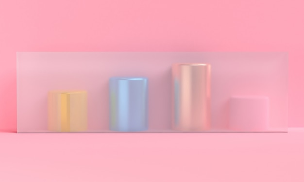 Минималистский абстрактный фон, примитивные геометрические фигуры, 3d визуализации.