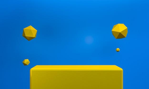 Минималистский абстрактный 3d-рендеринга.