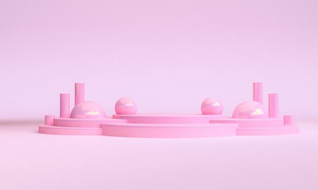 Минималистская геометрическая сцена минимальная форма, перевод 3d.